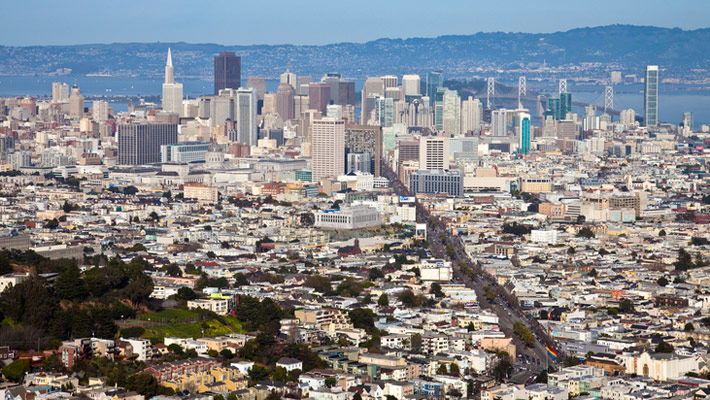 Shot of San Francisco, home of AAA Windows 4 Less